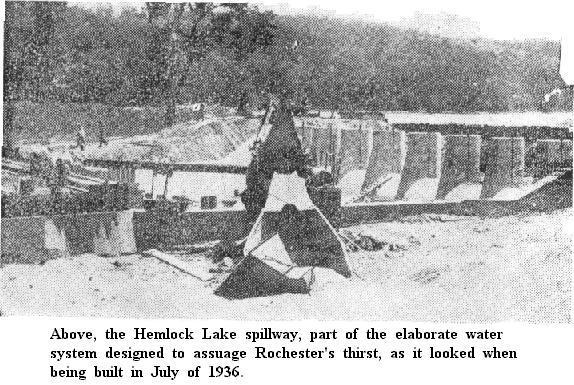 Picture of Hemlock Lake Spillway - 1936
